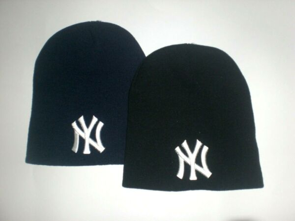 New York Yankees Short Beanie Skull Cap NY Hat One Size Pick Your Color! New!