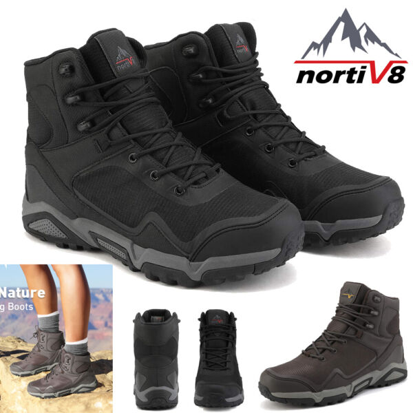 NORTIV 8 Men's Winter Snow Boots  Outdoor Waterproof Ankle Hiking Work Shoes US $39.55