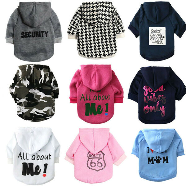 Boy Pet Dog Cat Small dog Clothing T Shirt Girl Puppy Hoodie Coat Clothes XS S M $7.99