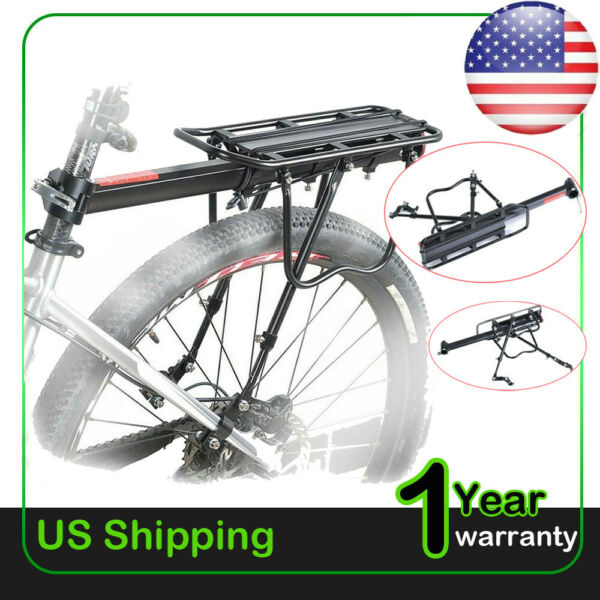 Bike Rear Rack Seat Luggage Carrier Bicycle Post Pannier Cycling Aluminum USA $21.95