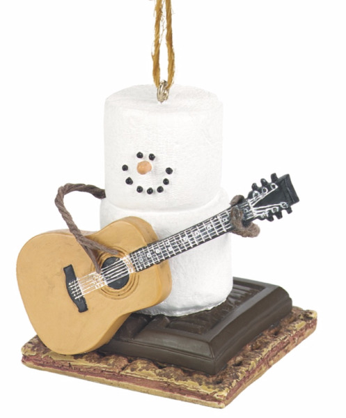 Midwest-CBK – S'more Marshmallow Ornament – Playing Guitar Instrument Music