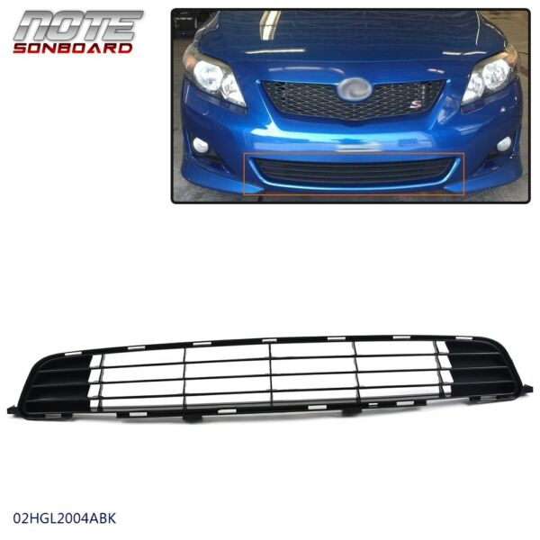 Front Bumper Grille Black Textured Finish For 2009 2010 Toyota Corolla TO1036111