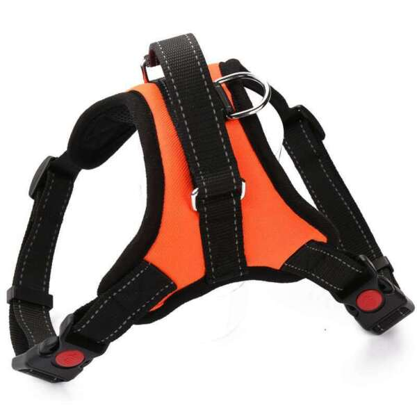NoPull Dog Harness Soft Padded Chest Vest with Handle for Easy Control S Orange $5.99