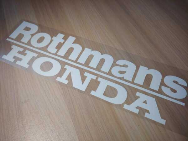 Rothmans Honda Racing stickers Decals 8cm x 27cm 2 pieces
