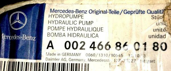 MERCEDES BENZ ORIGINAL Steering System Hydraulic Pump A002466860180 NEW