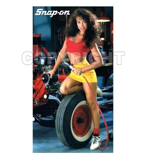 Fridge Magnet Sexy SNAP ON TOOLS Time Girl sexy playmate Lisa Madison auto shop
