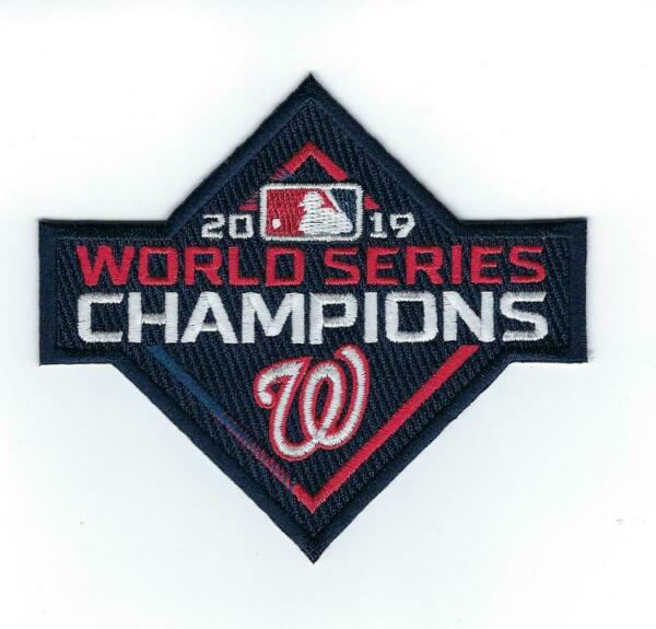2019 OFFICIAL MLB Washington Nationals World Series Champions Patch Iron Sewn On