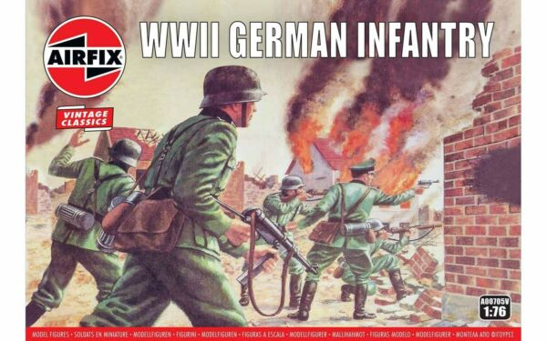 Airfix 48 WWII German Infantry 1:76 Scale Plastic Model Figures A00705V