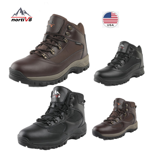 NORTIV 8 Men's Winter Warm Snow Boots Outdoor Waterproof Ankle Hiking Boots US