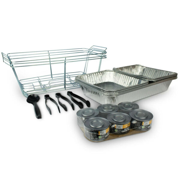 Disposable Chafing Dishes Food Warmer 48 piece Disposable Catering Serving Set
