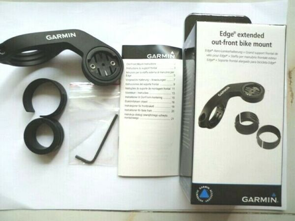 Garmin extended Out front Bike Mount for Edge Forerunner New Black
