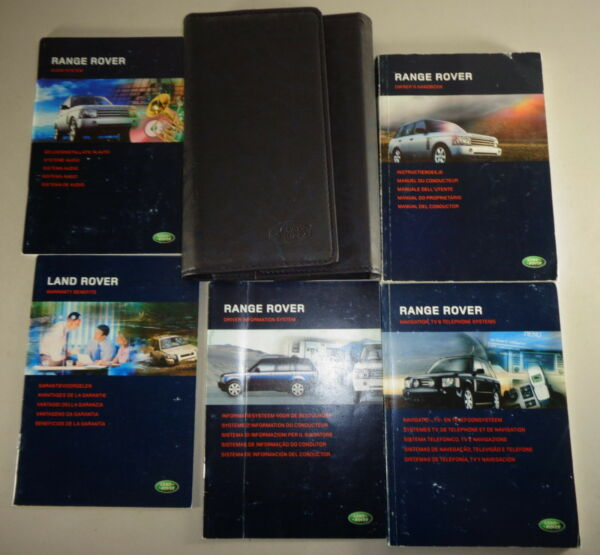 Document Kit + Manual Owner's Manual + Wallet Range Rover Stand 2004