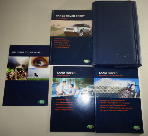 Document Kit + Manual Owner's Manual + Wallet Range Rover Sport Stand 2006