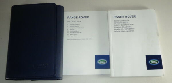 Document Kit + Manual Owner's Manual + Wallet Range Rover Stand 2013