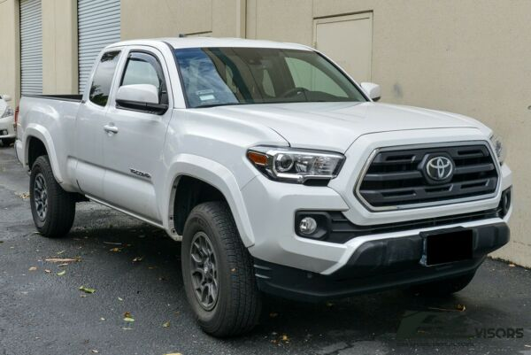 Fit 16-Up Toyota Tacoma Access Cab In Channel JDM Side Window Visors Deflector