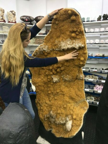 Giant Citrine top shelf one of the kind 275 kg wall of shine crystals