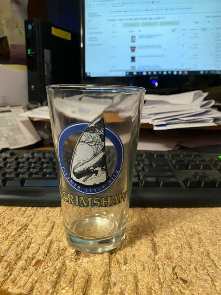SCRIMSHAW-------NORTH COAST BREWING----PINT GLASS