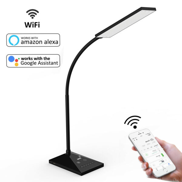 72 LED Smart Desk Lamp WiFi Alexa Voice Control Table Lamp Night Light USB Port