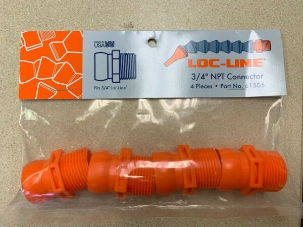 3 4quot; NPT Connector Male for Loc Line® USA 3 4quot; System 4 Pieces per Pack #61505 $6.15