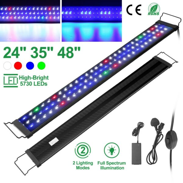 24quot; 35quot; 48quot; Full Spectrum Aquarium LED Light Freshwater Fish Tank Plant Marine $42.01