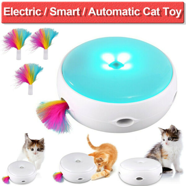 Pet Interactive Turntable Mice Toys for Cats Automatic Electric Mice Catch Toy
