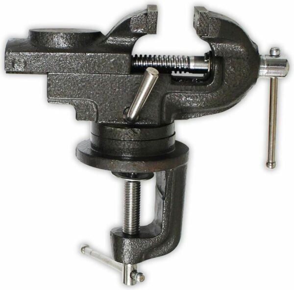 2.5-Inch Table Vise with Anvil & Swivel Base (Pack of: 1) - VISE-93050