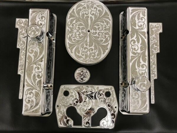 Car Battery Optima Cover Engraved and Chrome