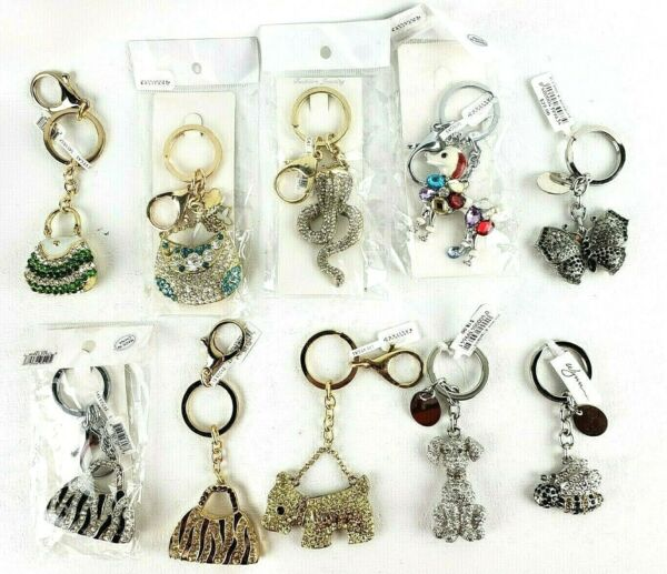 Craft Supplies to Repurpose Junk quot;Gemquot; Key Chains Purse Dog Snake Bee Butterfly $15.00