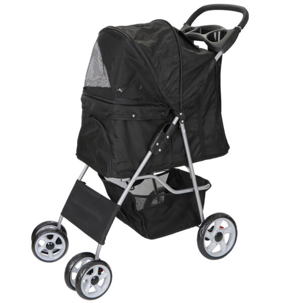 Durable Foldable Dog Stroller Pet Travel Carriage for Pets with Carrier Cart $56.99