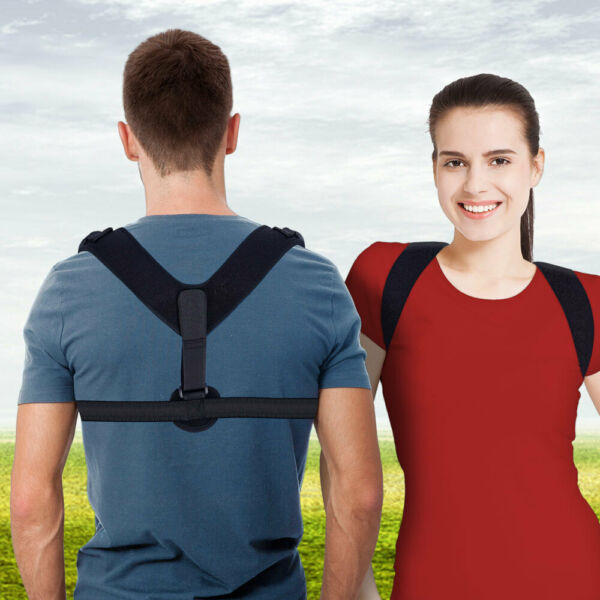 Back Posture Support Corrector Adjustable Shoulder Brace Therapy Men Women