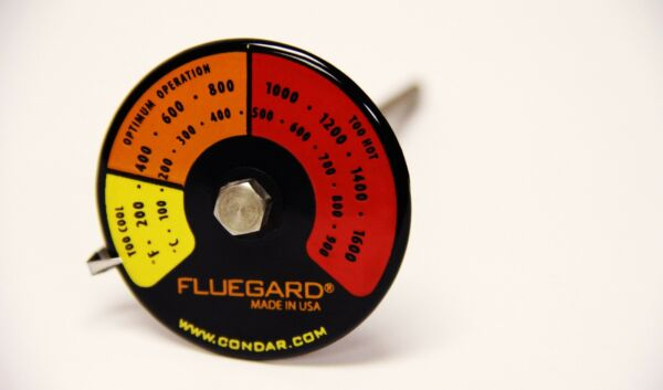Stove pipe probe thermometer for double wall stovepipe on wood stoves 3 39 $28.00