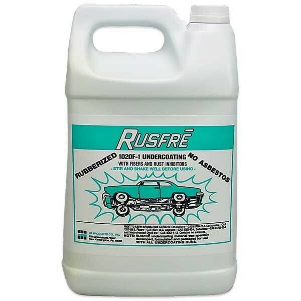 RUSFRE Black Rubberized Spray-On Undercoating Gallon #MD-1020