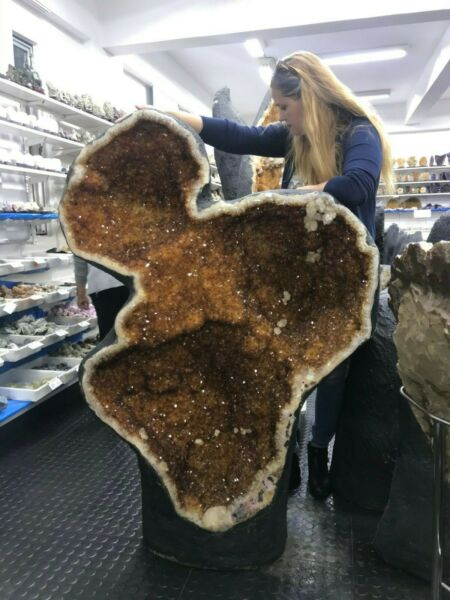 COLOSSAL * CITRINE GEODE MINERAL 340 Kgs = 750 Lbs  ** ALL OFFERS WELCOME