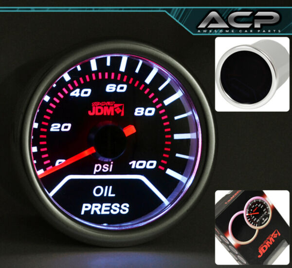 52mm Autometer Oil Pressure Gauge Dial Smoke For Vip G35 G37 Q45 M35 Tsx Tl Tsx