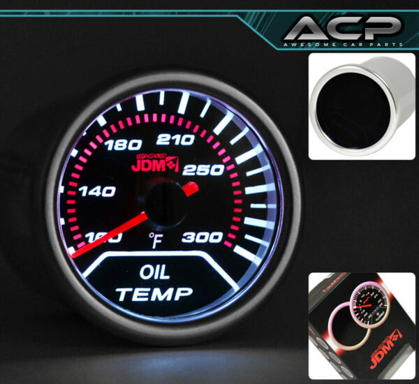 Universal Red Analog Needle Oil Temperature Temp Gauge Autometer Racing Display
