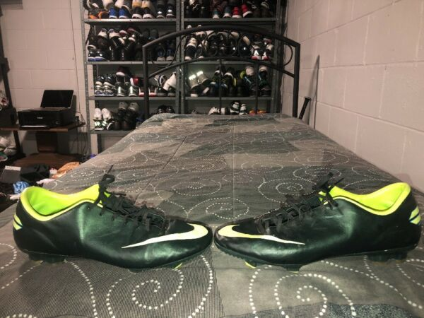 Nike Mercurial Victory III FG Mens Soccer Cleats Size 10.5 Green Volt Blue