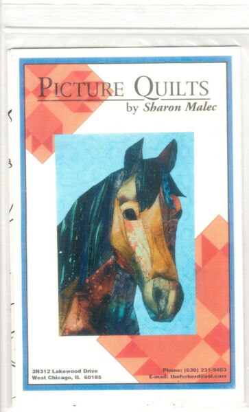 Horse - Picture Quilts Sharon Malec 12 x 18 - 1999 - New Uncut