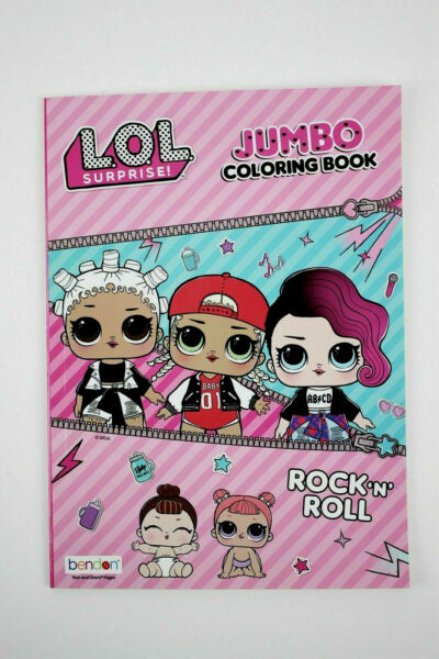 LOL SURPRISE DOLLS JUMBO COLORING BOOK L.O.L. Doll Rock 'N'  Roll Activity