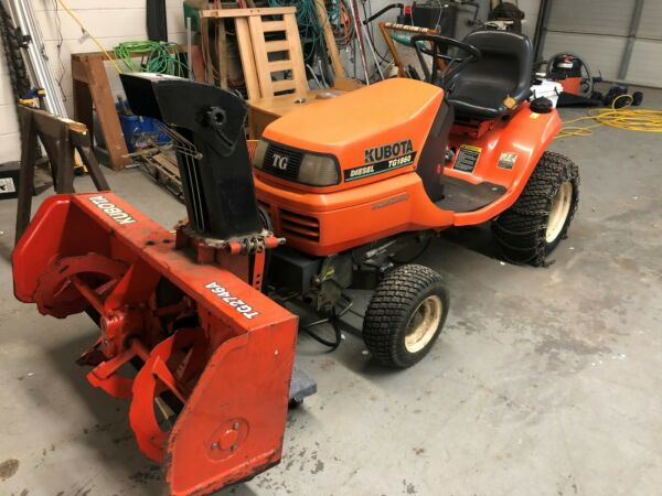 Kubota TG1860 Diesel - Mower  Grass Catcher  Snow Blower - Must see