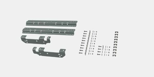 Bamp;W Hitch 5th Wheel Mounting Rails Quick Fit Bracket Kit for 11 16 F 250 amp; F 350 $228.00