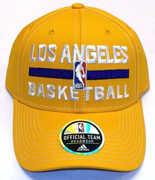 adidas Los Angeles Lakers Adults Authentic Practice Structured Adjustable Cap