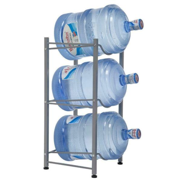 3 Layer Water Bottle Storage 5 Gallon Buddy Rack Shelf System Home Office