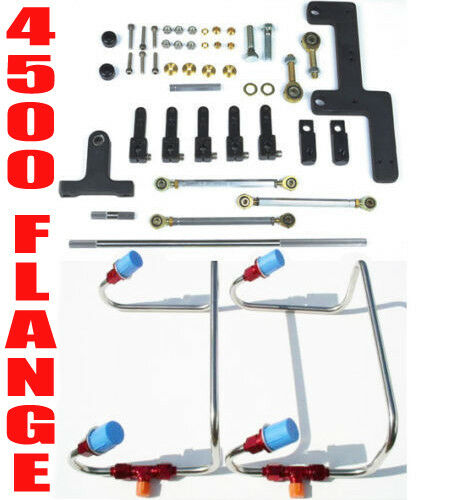 DUAL INLET 4500 MECH DOM BLOWER FUEL LINES RED COLOR KIT HOLLEY LINKAGE COMBO $369.99