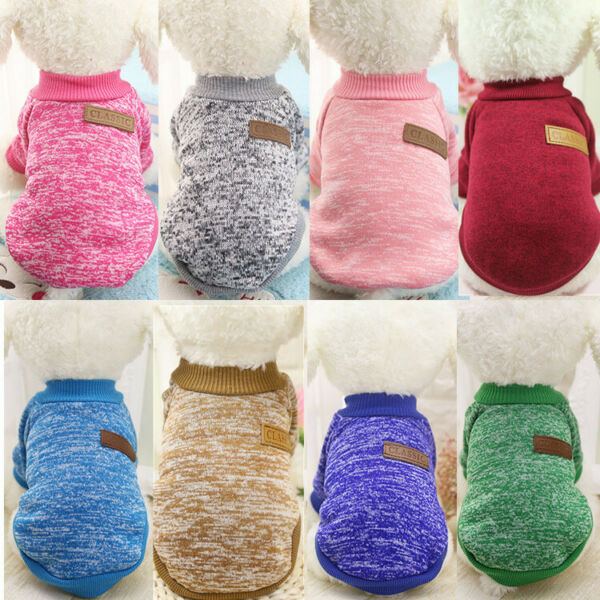 8 X Dog Sweater Wholesale Puppy Clothes Dog Hoodie Size XS Small Medium Large $18.50