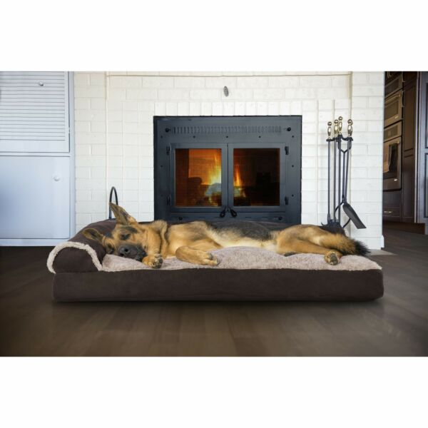 Big Dog Bed Sofa Pet Couch Plush Faux Fur Mastiff Great Dane Cushion Jumbo XXL $76.06
