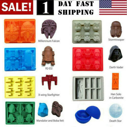 US Star Wars Ice Tray Silicone Mold DIY Ice Cube Tray Chocolate Mould Death Star $26.99