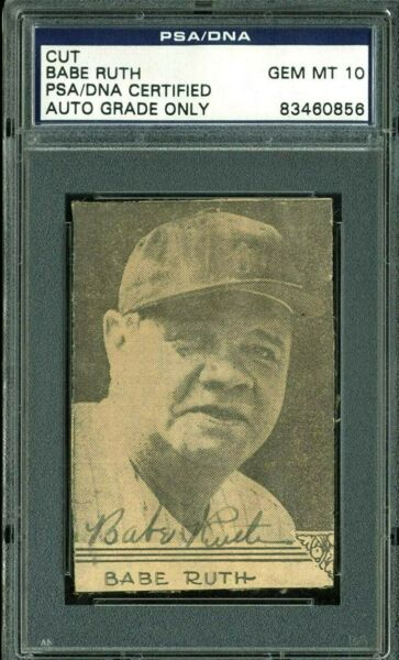 Yankees Babe Ruth Signed Signature Autographed Gem PSA NDA Certified Authentic