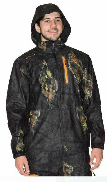 3X 2X XL Mossy Oak Eclipse Tricot Scent Control Waterproof Camo Coat Jacket Wind
