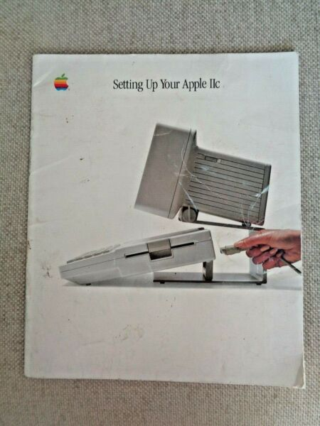 Setting Up Your Apple IIc 1984 Vintage Computer Manual Instruction Guide Disks