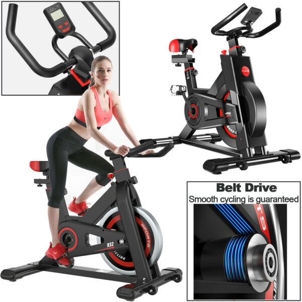 Black Exercise Stationary Bike Cycling Home Gym Cardio Workout Indoor Fitness US $214.99